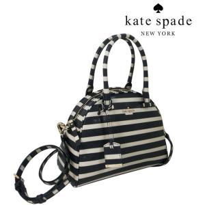 ケイト スペード バッグ KATE SPADE 2WAY ストライプ ショルダーバッグ ネイビー アイボリー PXRU5307 438/メンズ/レディース|amulet