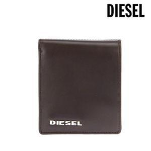 DIESEL ディーゼル メンズ 二つ折り財布 レザー / ブラウン×レッド×グリーン [ X02756 PR378 H5465 ] amulet