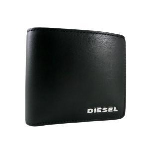 ディーゼル 財布 DIESEL 二つ折り HIRESH レザー メンズ ブラック X03150 PS777 T8013 amulet
