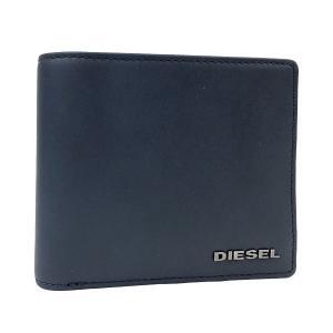 ディーゼル 財布 DIESEL 二つ折り財布 HIRESH マット レザー メンズ ネイビー ブラック X03363 PR478 H5057 amulet