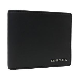 ディーゼル 財布 DIESEL 二つ折り財布 HIRESH マット レザー メンズ ブラック ダークグリーン X03363 PR478 H5856 amulet