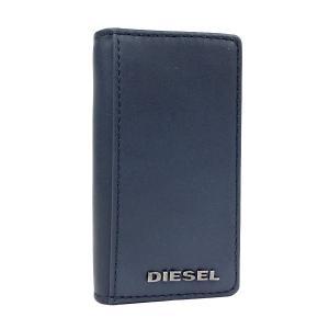 ディーゼル キーケース DIESEL 6連 キーホルダー マット レザー メンズ ネイビー ブラック X03615 PR478 H5057 amulet