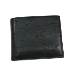 エンポリオ アルマーニ EMPORIO ARMANI 財布  二つ折り財布 ブラック YEM122-YH187-80001 レディース メンズ ブランド 新作|amulet