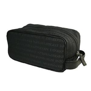 エンポリオ アルマーニ バッグ  セカンドバッグ ポーチ キャンバス ブラック YEM438-YCF04-88001 レディース メンズ ブランド 新作|amulet