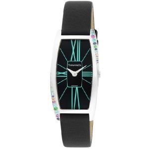 ティファニー 腕時計 TIFFANY&CO. 時計 ジェメア カラーストーン サテンレザー ブラック レディース Z64011010G19A 40G/メンズ/レディース|amulet