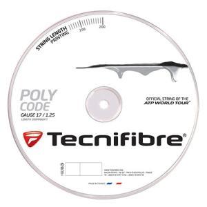 テクニファイバー ポリコード 200Mロール (125mm/130mm) 硬式テニス ポリエステル ガット(Tecnifibre Poly Code 200M String Reel Silver)【2015年1月登録】|amuse37