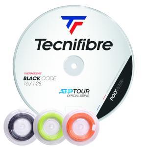 テクニファイバー(Tecnifibre) ブラックコードBlack Code 200Mロール(118/124/128/132)TFR503/TFR504/TFR505/TFR506 硬式テニス ポリエステル ガット【全3色】|amuse37