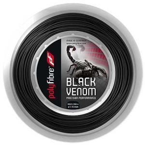 ポリファイバー ブラックヴェノム(1.15/1.20/1.25/1.30mm) 200Mロール 硬式テニス ポリエステル ガット|amuse37