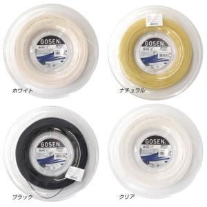 ゴーセン ミクロ16/17(1.29mm/1.22mm)(ブラック/クリアー/ホワイト/ナチュラル) 200Mロール 硬式テニスガットモノフィラメントガット|amuse37