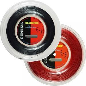 ジェネシス(GENESIS) ヘキソニック(1.09mm/1.18mm/1.27mm)200Mロール 硬式テニス ポリエステルガット【2017年5月登録】|amuse37
