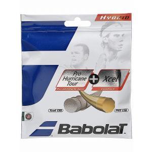 【パッケージ品】バボラ(Babolat) プロハリケーンツアー(1.25/1.30)+エクセル(1.30) 硬式テニスガット ハイブリッドガット(281032/281033)【2017年6月登録】|amuse37