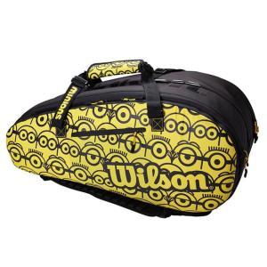 [12本収納]ウィルソン(Wilson) 2021 Wilson×Minions TOUR ツアー 12 ミニオンズ ラケットバッグ テニスバッグ WR8013701001-ブラック×イエロー(21y4m)|amuse37