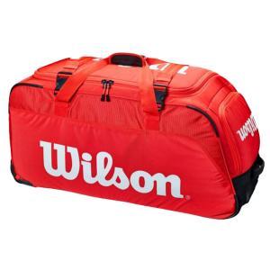 [ラケット収納可]ウィルソン(Wilson) 2021 SUPER TOUR スーパーツアー トラベルバッグ トローリーバッグ WR8012201001-レッド(21y3m)|amuse37