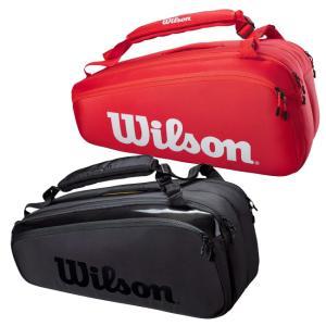 [9本収納]ウィルソン(Wilson) 2021 SUPER TOUR 9PK スーパーツアー9PK ラケットバッグ テニスバッグ WR8010501001/WR8010601001(21y3m)|amuse37