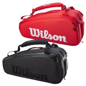 [15本収納]ウィルソン(Wilson) 2021 SUPER TOUR 15PK スーパーツアー15PK ラケットバッグ テニスバッグ WR8010301001/WR8010401001(21y3m)|amuse37