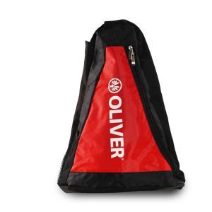 [バドミントン・スカッシュ][ラケット収納可]OLIVER(オリバー) 三角バッグ ラケットバッグ ワンショルダーバッグ C53026-ブラック×レッド(20y2m) amuse37