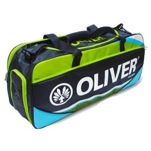 [バドミントン・スカッシュ][ラケット収納可]OLIVER(オリバー) TEAM LINE(チームライン) ダッフルバッグ C55119-ブルー×グリーン(20y2m) amuse37