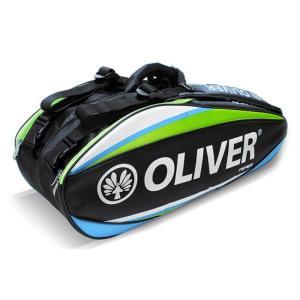 [バドミントン・スカッシュ][6本収納]OLIVER(オリバー) TEAM LINE(チームライン) ラケットバッグ C55118-ブルー×グリーン(20y2m) amuse37
