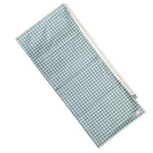 [ラケットケース 便利なソフトタイプ]フェリーチェ(felice) テニスラケット用ソフトケース(2本収納可) ギンガムチェック(ライトブルーxオフホワイト) (19y9m) amuse37