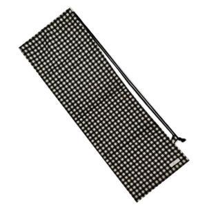 [ラケットケース 便利なソフトタイプ]フェリーチェ(felice) バドミントンラケット用ソフトケース(1本用) ギンガムチェック(ブラックxオフホワイト) (19y9m) amuse37