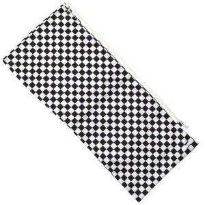 フェリーチェ(felice) テニスラケット用ソフトケース(2本収納可) 市松模様(チェッカーフラッグ柄)ブラックxホワイト ブロックチェック (18y10m) amuse37