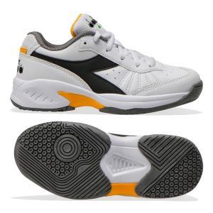 ディアドラ(Diadra) 2021 ジュニア スピードチャレンジ3 オールコート用 ジュニアテニスシューズ 176951-C9078 ホワイト×ブラック×サフラン(21y3m) amuse37