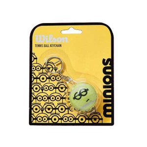 ウィルソン(Wilson) 2021 Wilson×Minions ミニオンズ テニスボールキーチェーン キーホルダー WR8406501001-イエロー×ブラック(21y4m)|amuse37