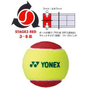 【バラ売り1球 レッドボール】ヨネックス マッスルパワーボール20 TMP20(YONEX Muscle Power 20)ジュニアテニスボール【2016年5月登録】|amuse37