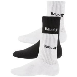 【3足セット】バボラ ジュニア テニスソックス 45S1495/5JS16301(Babolat Crew 3-Pack Socks) amuse37