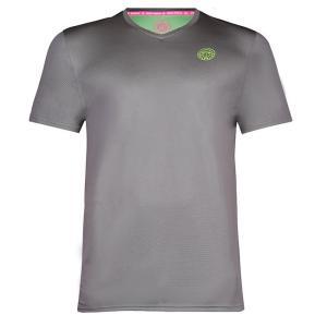 BIDI BADU(ビディバドゥ) 2020 FW ジュニア(ボーイズ) エヴィン(Evin) テック ラウンドネック Tシャツ B369003203-GRNGN グレー×ネオングリーン(21y2mテニス)|amuse37