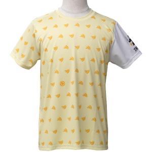 TENIGORI(テニゴリ) ユニセックス 総柄ミニバナナパターン プラクティス ドライTシャツ TGMT008-イエローバナナ(20y4m)|amuse37