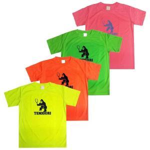 [蛍光色][日本サイズ]TENIGORI(テニゴリ) ユニセックス ファイバードライ 速乾 半袖プリントTシャツ TGMT006(20y4mテニス)|amuse37