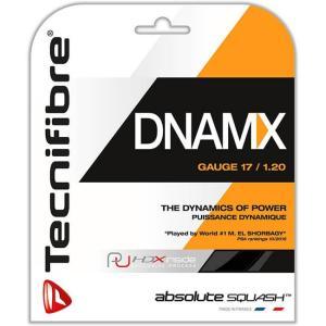[単張パッケージ品]テクニファイバー(Tecnifibre) DNAMX 17(1.20mm) ブラック 9.7M スカッシュ マルチフィラメントガット (19y4m) amuse37