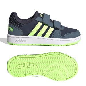 在庫処分特価】アディダス(adidas) ジュニア(ユニセックス) HOOPS 2.0 フープス 2.0 バスケットボールシューズ FW4930-インク×グリーン×ブルー(20y10m)|amuse37