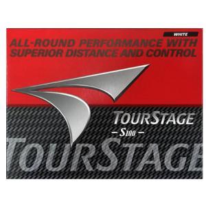 ブリヂストン(BRIDGESTONE) TOURSTAGE ツアーステージ S100 ゴルフボール 1ダース(12個)[赤パッケージ](21y3m)|amuse37