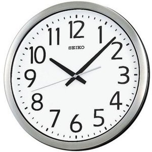 セイコークロック 掛け時計 オフィスタイプ クオーツ 防湿・防塵型 金属枠 KH406S|amuseland