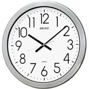 セイコークロック 掛け時計 オフィスタイプ クオーツ 防湿・防塵型 金属枠 KH407S|amuseland