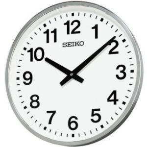 セイコークロック 掛け時計 屋外 防雨型 クオーツ 金属枠 KH411S|amuseland