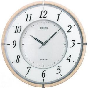 セイコークロック 電波掛け時計 ツイン・パ 薄型ソーラープラス 木枠 ブラウンSF501B|amuseland