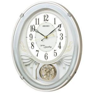 【◆在庫有り◆】セイコークロック アミューズ電波掛時計(白) AM258W|amuseland