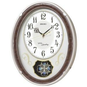 【◆在庫有り◆】セイコークロック アミューズ電波掛時計(薄金) AM259B|amuseland