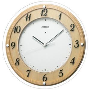 【◆在庫有り◆】セイコークロック インテリア木枠電波掛時計(木地天然色)丸 KX321A|amuseland