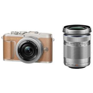 オリンパス ミラーレス一眼カメラ OLYMPUS PEN E-PL9 EZダブルズームキット [ブラウン]|amuseland
