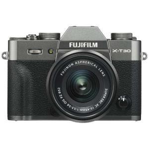 富士フイルム ミラーレス一眼カメラ FUJIFILM X-T30 15-45mmレンズキット [チャコールシルバー]|amuseland
