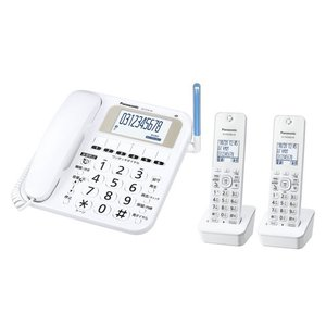 パナソニック デジタルコードレス電話機(子機2台) RU・RU・RU VE-E10DW|amuseland