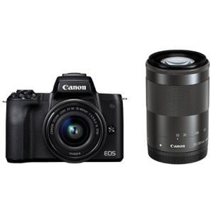 CANON ミラーレスカメラ EOS Kiss M ダブルズームキット [ブラック]|amuseland