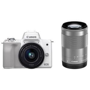 CANON ミラーレスカメラ EOS Kiss M ダブルズームキット [ホワイト]|amuseland
