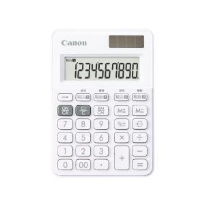 CANON キャノン 電卓 LS-100WT-SW スノーホワイト 軽減税率対応|amuseland
