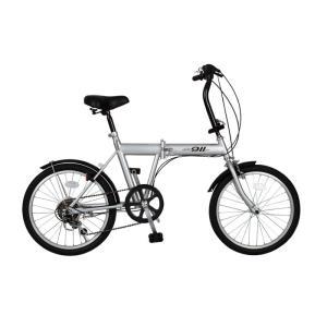 ミムゴ 折りたたみ自転車 アクティブ911 MG-G206N-SL [シルバー] amuseland