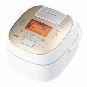 東芝 真空圧力IH炊飯器(5.5合炊き) RC-10VQK(N) サテンゴールド (量販店モデル) ...